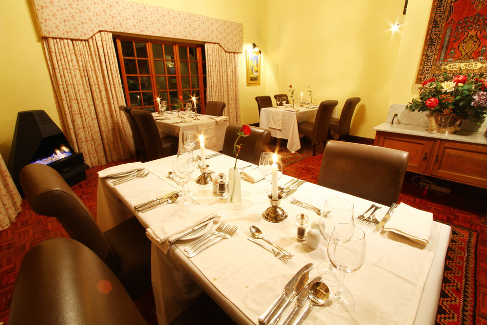 Dining in Dullstroom