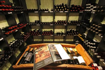 Wine cellar at Walkersons Hotel